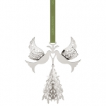2014 CHRISTMAS MOBILE FIR TREE AND DOVES, PALLADIUM PLATED 3588214