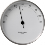 KOPPEL 10 CM HYGROMETER STAINLESS STEEL WITH WHITE DIAL 3587590