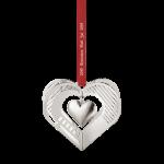 2019 Christmas Mobile, Heart Palladium Plated Brass